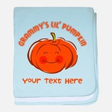 Grammy's Little Pumpkin Personalized baby blanket