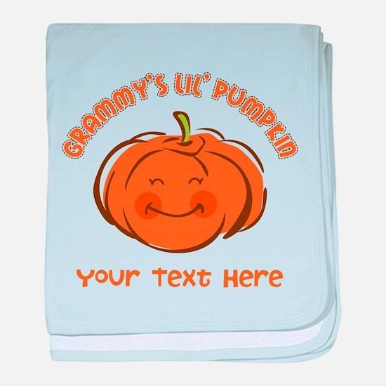 Grammy's Little Pumpkin Personalized baby blanket