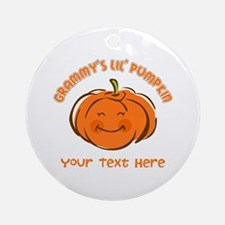 Grammy's Little Pumpkin Personalized Ornament (Rou