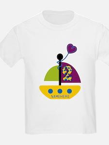 Custom 2nd Birthday Sailboat T-Shirt