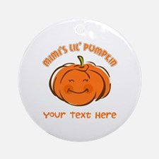 Mimi's Little Pumpkin Personalized Ornament (Round