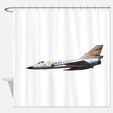 F-106 Delta Dagger Fighter Shower Curtain