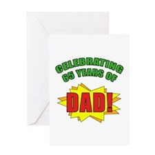 Celebrating Dad's 65th Birthday Greeting Card