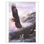 Eagles in Mist Small Poster