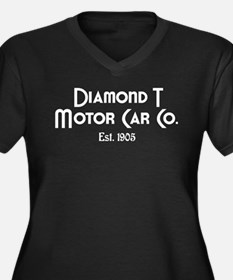 Diamond T Women's Plus Size V-Neck Dark T-Shirt