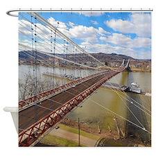WHEELING SUSPENSION BRIDGE Shower Curtain