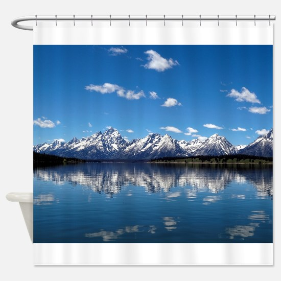 GRAND TETON MOUTAINS-JACKSON LAKE Shower Curtain