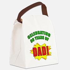 Celebrating Dad's 90th Birthday Canvas Lunch Bag