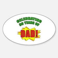 Celebrating Dad's 90th Birthday Decal