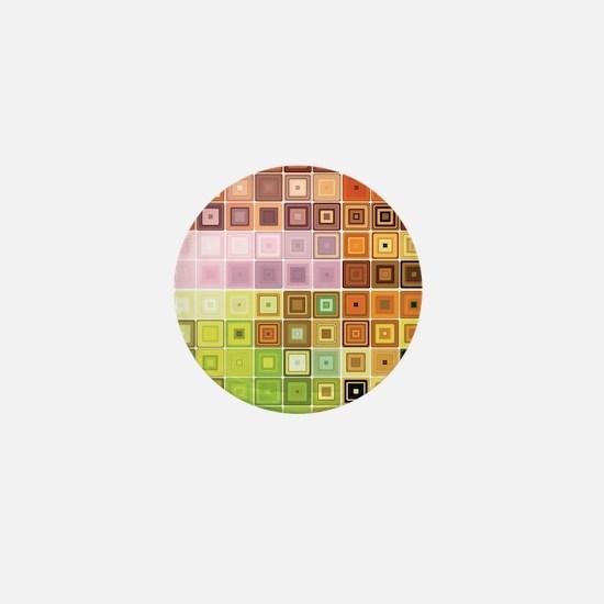 Art, Colorful, Vintage Mini Button