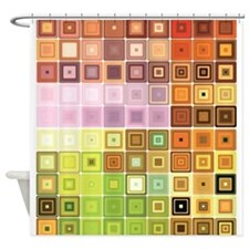 Art, Colorful, Vintage Shower Curtain