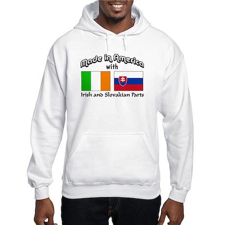 Irish-Slovakian Hooded Sweatshirt
