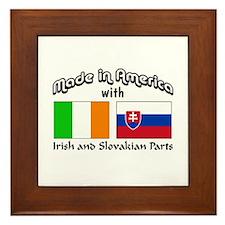 Irish-Slovakian Framed Tile