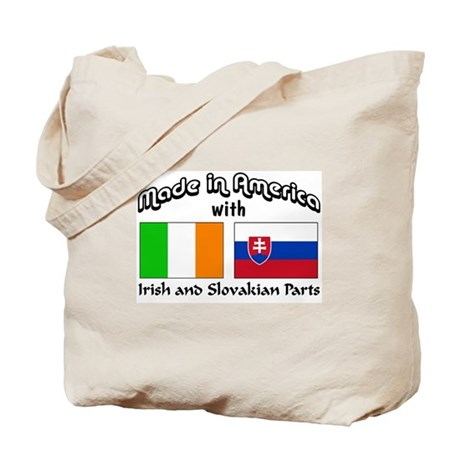 Irish & Slovakian Parts Tote Bag