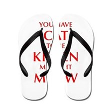 YOU-HAVE-CAT-OPT-RED Flip Flops