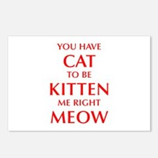 YOU-HAVE-CAT-OPT-RED Postcards (Package of 8)