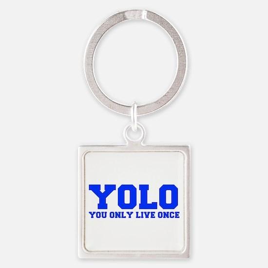 YOLO-FRESH-BLUE Keychains
