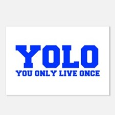 YOLO-FRESH-BLUE Postcards (Package of 8)