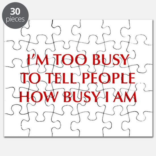 IM-TOO-BUSY-OPT-DARK-RED Puzzle