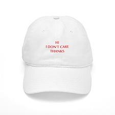 HI-I-DONT-CARE-OPT-RED Baseball Baseball Cap