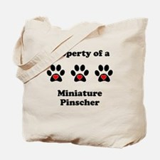 Property Of A Miniature Pinscher Tote Bag