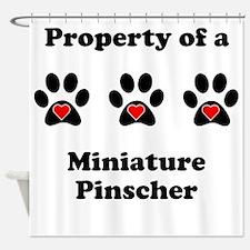 Property Of A Miniature Pinscher Shower Curtain