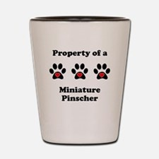 Property Of A Miniature Pinscher Shot Glass