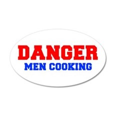 DANGER-MEN-COOKING-FRESH-RED-BLUE Wall Decal