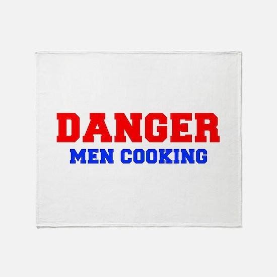 DANGER-MEN-COOKING-FRESH-RED-BLUE Throw Blanket