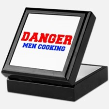 DANGER-MEN-COOKING-FRESH-RED-BLUE Keepsake Box