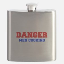 DANGER-MEN-COOKING-FRESH-RED-BLUE Flask