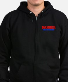 DANGER-MEN-COOKING-FRESH-RED-BLUE Zip Hoodie