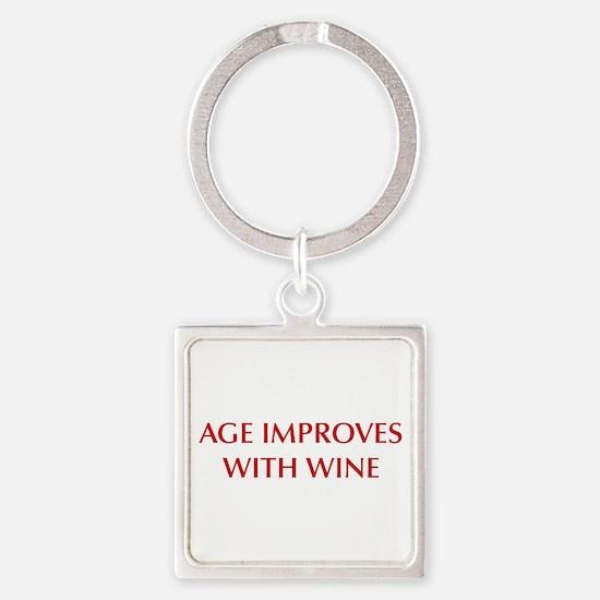 AGE-IMPROVES-OPT-DARK-RED Keychains
