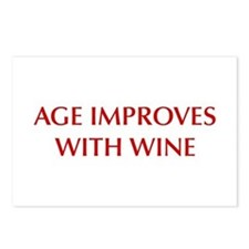AGE-IMPROVES-OPT-DARK-RED Postcards (Package of 8)