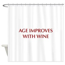 AGE-IMPROVES-OPT-DARK-RED Shower Curtain