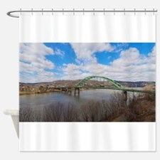 Wheeling Interstate Bridge Shower Curtain