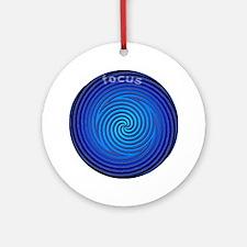 Focus Blue Ornament (Round)