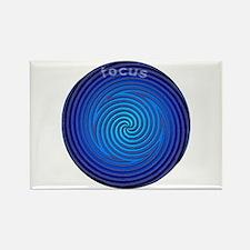 Focus Blue Rectangle Magnet