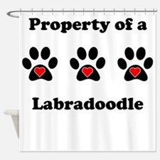 Property Of A Labradoodle Shower Curtain