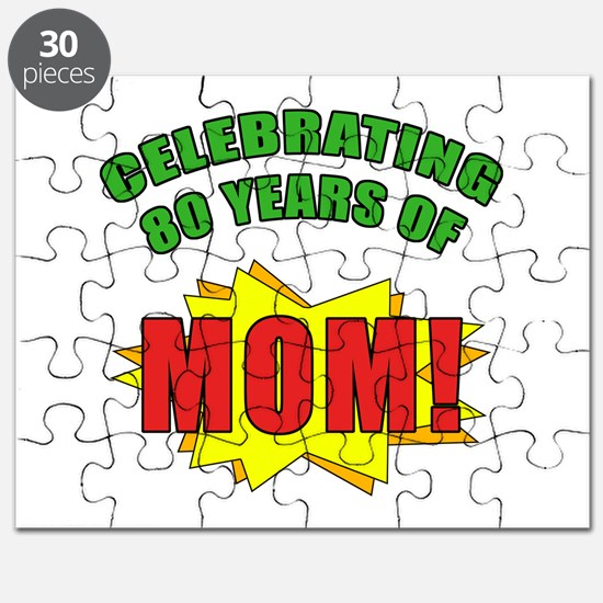 Celebrating Mom's 80th Birthday Puzzle