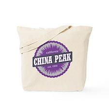 China Peak Ski Resort California Purple Tote Bag