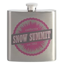 Snow Summit Ski Resort California Pink Flask