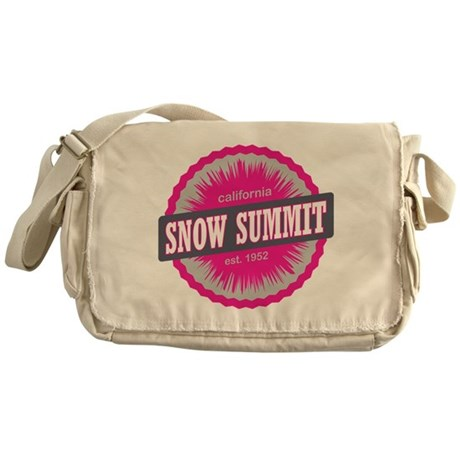 Snow Summit Ski Resort California Pink Messenger B