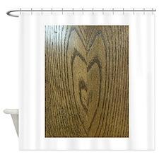 Wooden Heart Shower Curtain