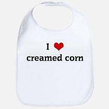 I Love creamed corn Bib