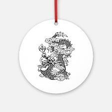 Dragon, Fantasy, Art, Cool Ornament (Round)