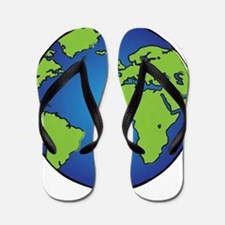 Earth, Planet, Earth Day, Environment Flip Flops