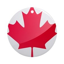 Canada, Flag, Canadian, Maple Leaf Ornament (Round