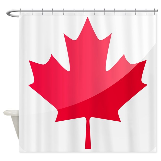Canada Flag Canadian Maple Leaf Shower Curtain By