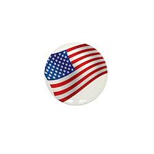 USA, America, Flag, Patriotic Mini Button